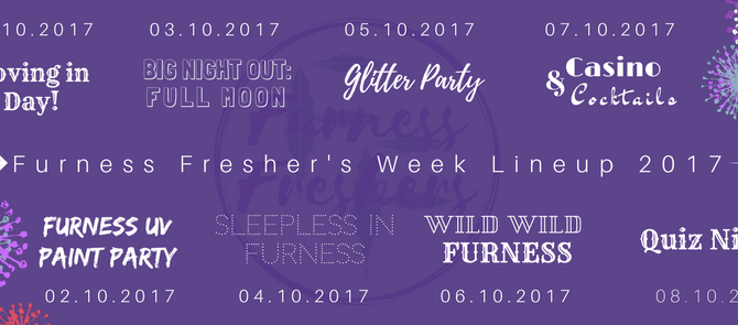 Fresher's Week 2017 Timetable!